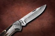 Bora DMS-B 201 Damascus Foldable Locking Knife