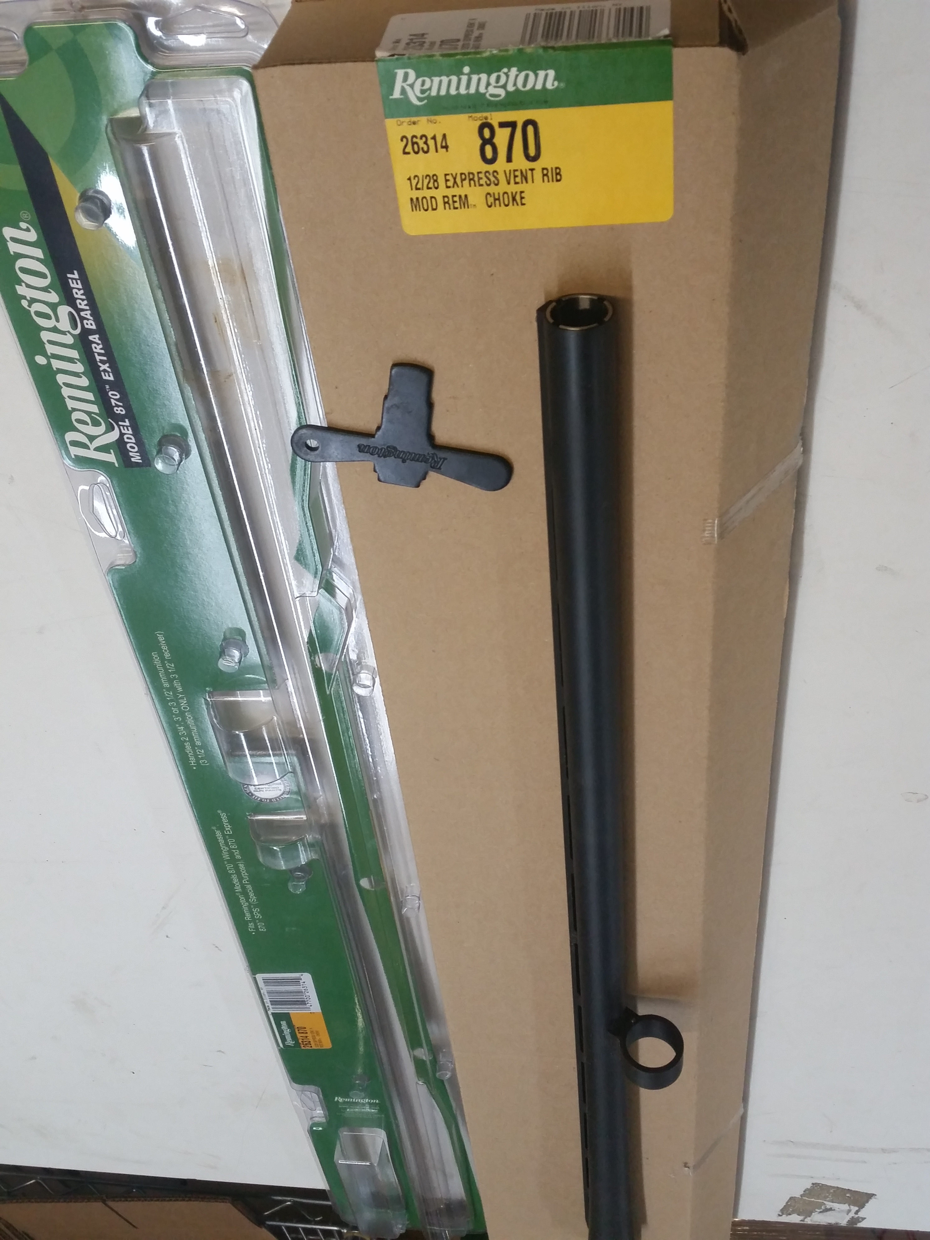 "Remington 26314 28"" Vented Rib Barrel Assy 12ga 870"
