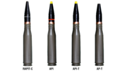 23x152 mm Round RAPIT-C Armour-Piercing Incendiary Tracer Projectile with tungsten alloy core