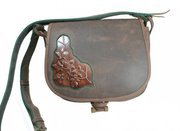 """P0 LEATHER BAG WITH PRINTED MOTIVE"""