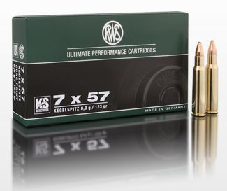 AMMO 7X57 123GR KS - CONED SOFT POINT