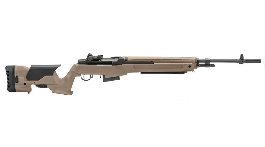 Springfield M1A Loaded FDE Precision Adjustable Stock Carbon Steel Barrel