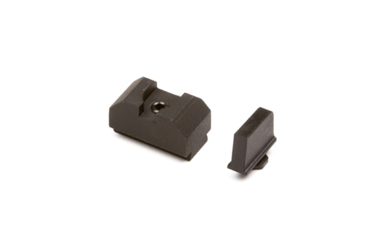 SIGHT SET, .300 BLACK FRONT, CO-WITNESS BLACK REAR