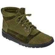 Courteney Impi boots in olive suede with leather facing