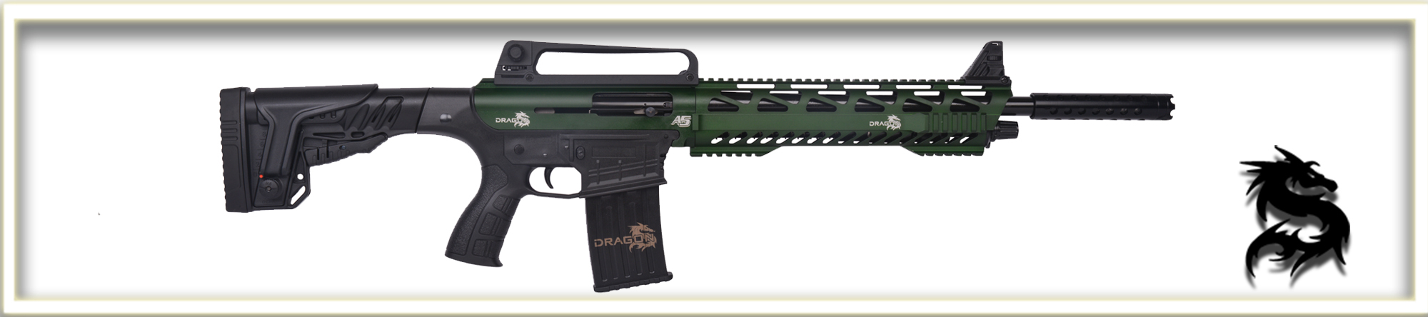 Dragon A5 Green Vertical Magazine