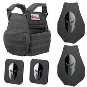 SPARTAN™ OMEGA™ AR500 BODY ARMOR AND SPARTAN SWIMMERS CUT PLATE CARRIER ENTRY LEVEL PACKAGE