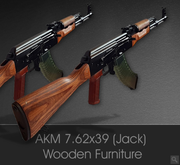 AKM 7.62x39 Rifle (Kalashnikov Type) with wooden furniture