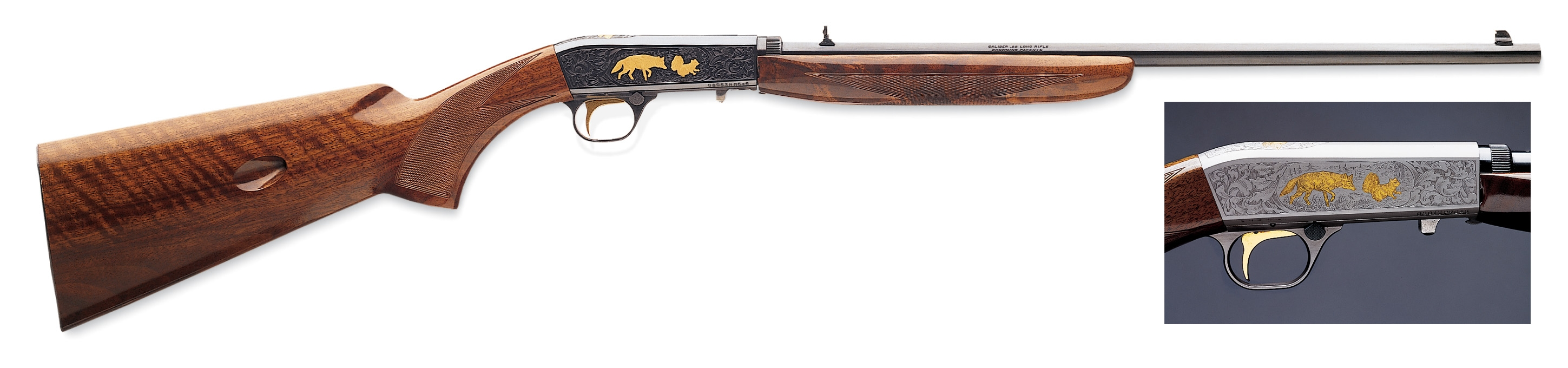 Browning Semi-Auto 22 Grade VI Grayed