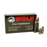 300 AAC BLACKOUT WOLF POLYFORMANCE 145GR FMJ