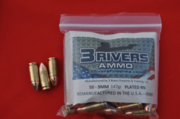 3Rivers Ammo 9MM 147gr. PLATED RN