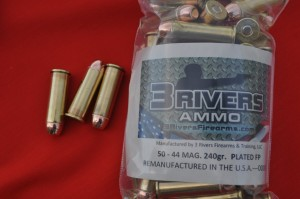 3Rivers Ammo 44MAG 240gr PLATED RNFP