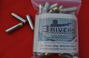 3Rivers Ammo 38SPL. 125 gr Montana Gold HP
