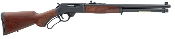 HENRY LEVER ACTION 45-70 STEEL ROUND BARREL 4 SHOT AMERICAN WALNUT