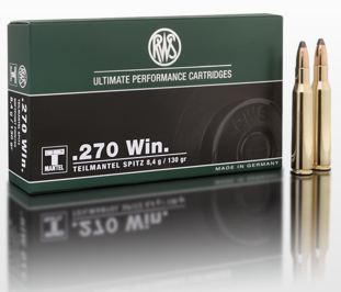 AMMO .270WIN 130GR TMS - POINTED SOFT POINT