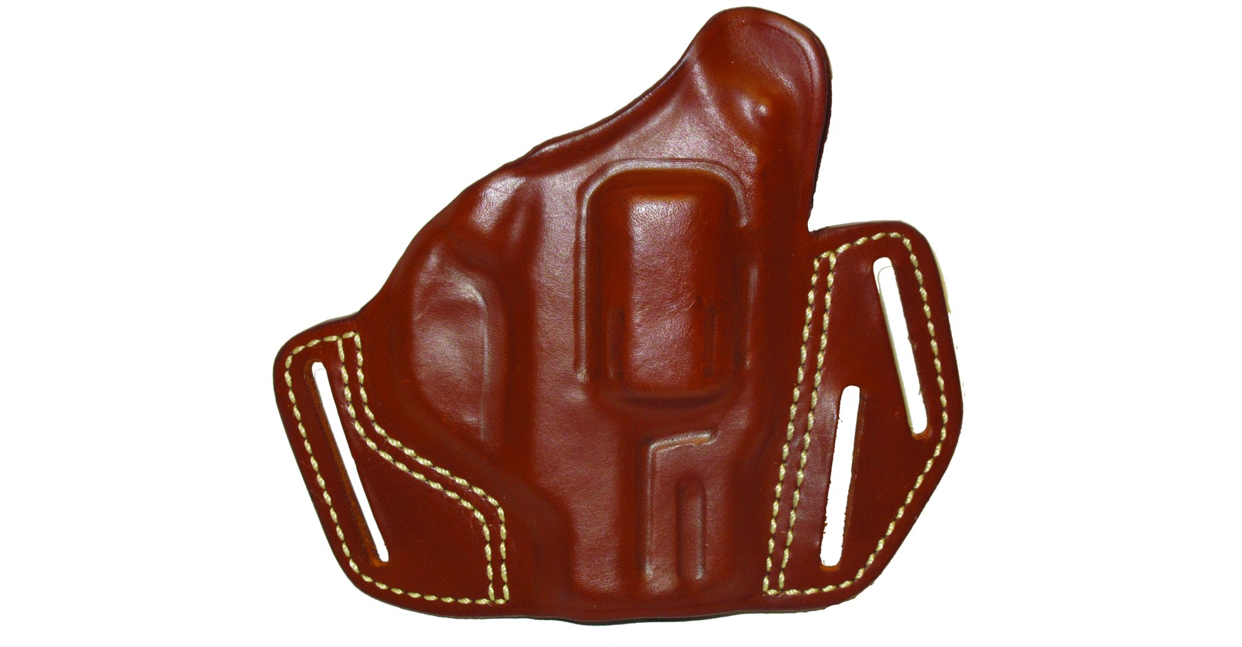"Rhino Revolver 2"" Brown Leather Holster"