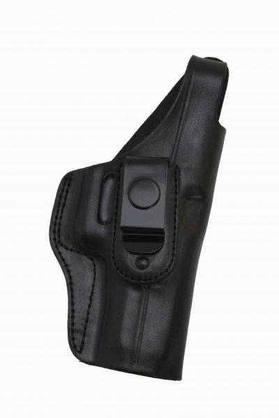 """20/S IWB CONCEALED LEATHER GUN HOLSTER WITH STEEL CLIP"""