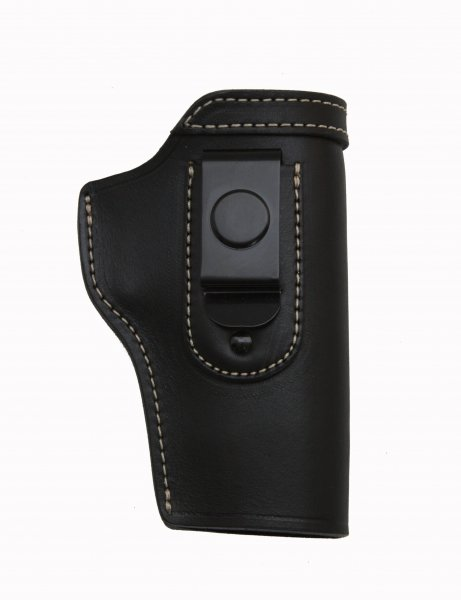"""84 IWB CONCEALED LEATHER GUN HOLSTER WITH STEEL CLIP"""
