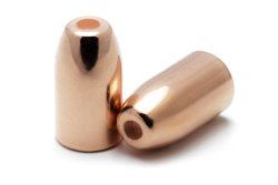 Copper Plated Bullets 38/357 HP.